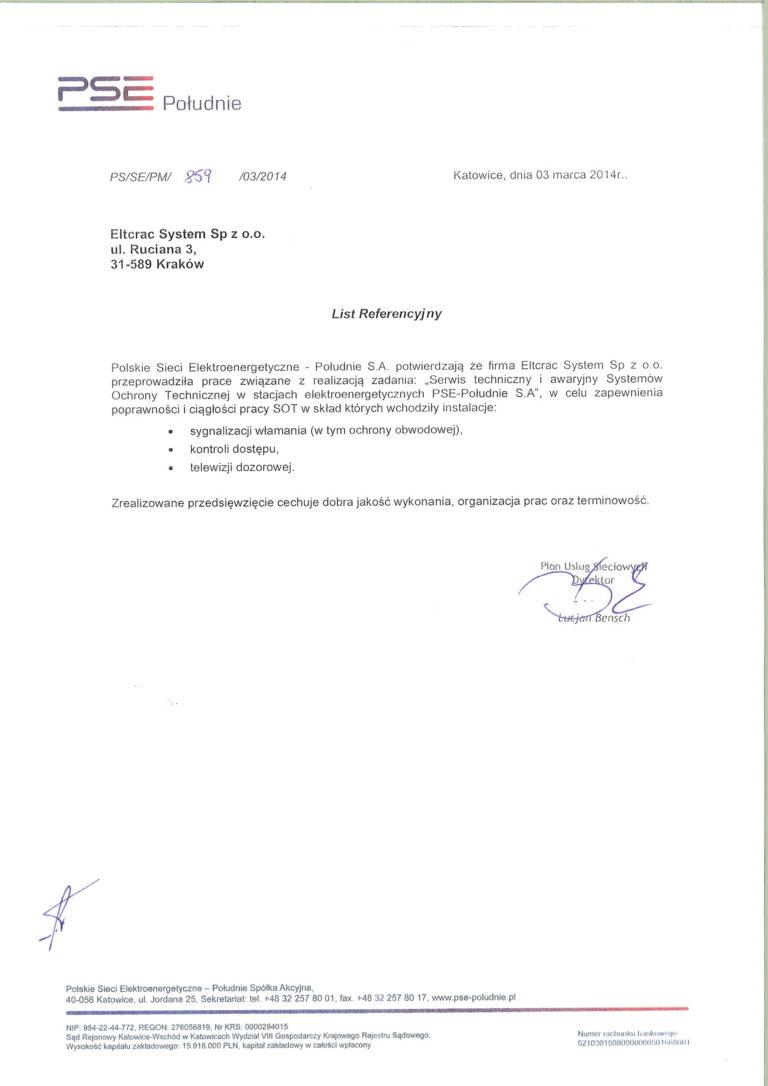 PSE list referencyjny
