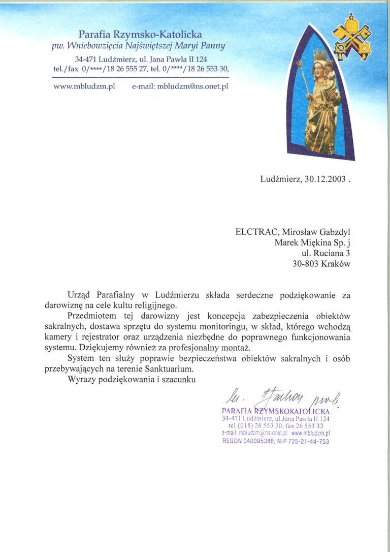 Parafia list referencyjny