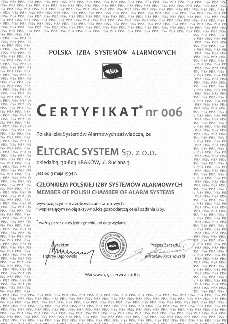 PISA certyfikat