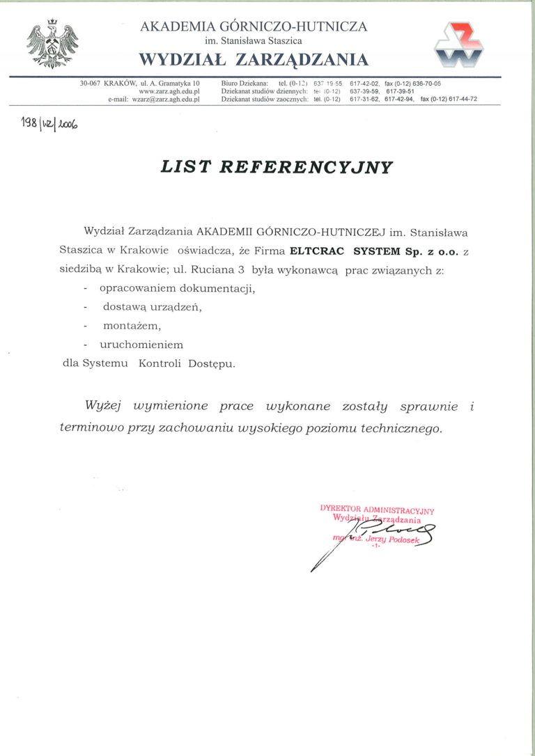 AGH list referencyjny