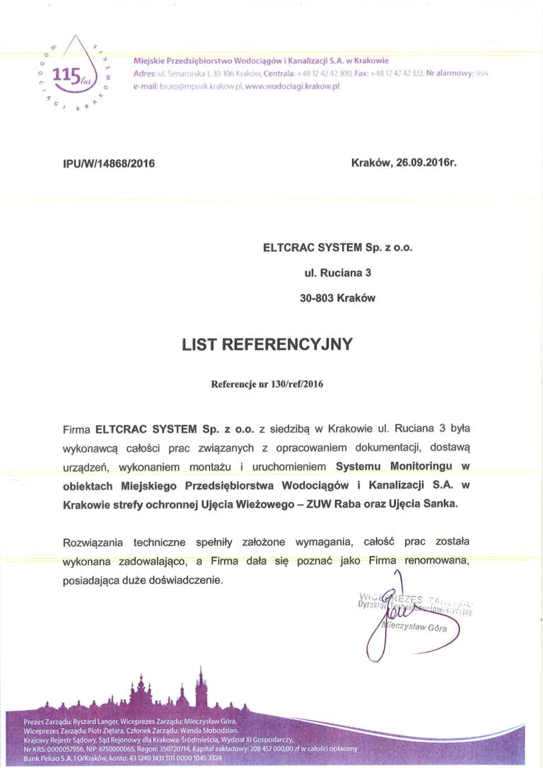 MPWiK list referencyjny