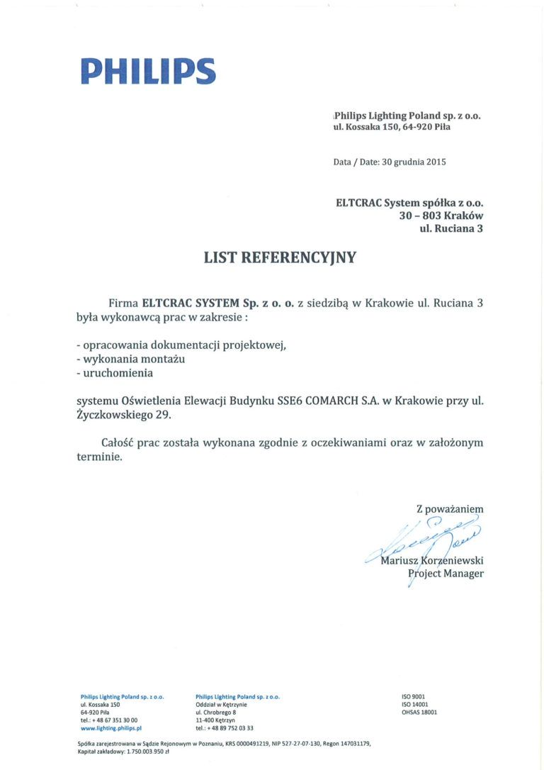 philips list referencyjny